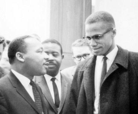 Malcolm X Martin Luther King Jr revolutionnaire afro americain